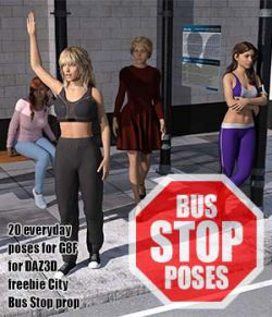 City Bus Stop Poses for G8F
