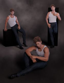 Enticement Poses and Expressions for Landon 8 and Genesis 8 Male