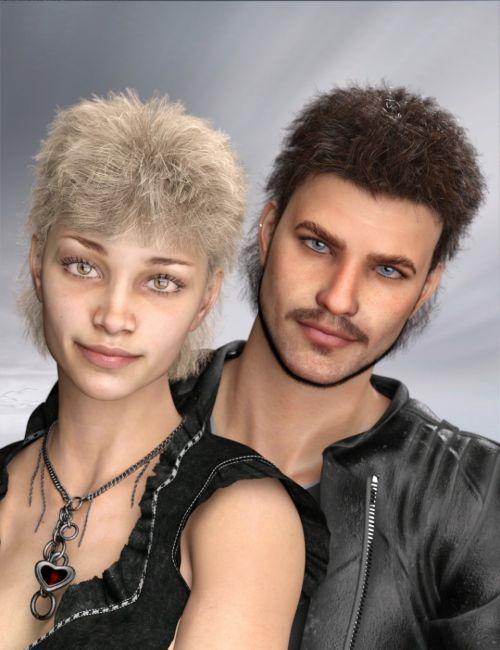 Retro Hero Hair for Genesis 8 and 3