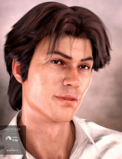 Landis Hair for Genesis 8 and Genesis 3 Male(s)