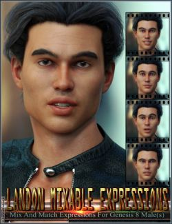 Mixable Expressions for Landon 8 and Genesis 8 Male