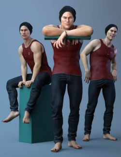 Poses and Expressions for Landon 8 and Genesis 8 Male