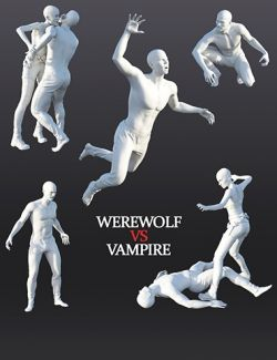 Action Poses Werewolf vs Vampire