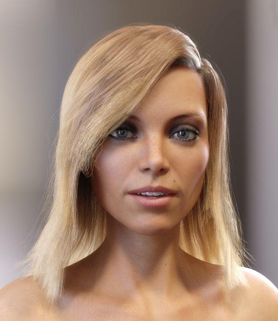 Skye Hair for Genesis 3 and 8 Females