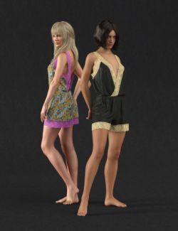 dForce Retro Romper for Genesis 8 Female(s)