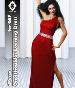 JMR dForce One Shoulder Evening Dress for G8F