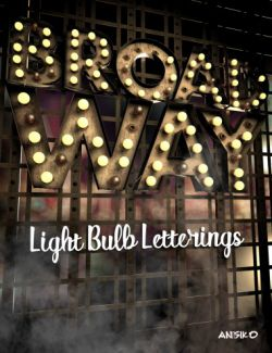 Broadway Light Bulb Letterings