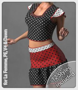 Jo Set & 12 Styles for La Femme, V4, PE and Dawn