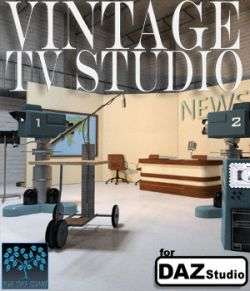 Vintage TV Studio for Daz Studio