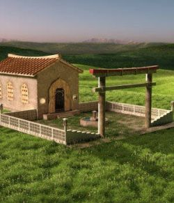 Asian Temple for DAZ Studio