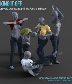 Taking It Off For Greybro's G8 Jeans and Tee Female Edition