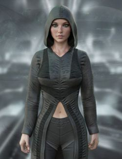 X-Fashion dForce Cyberpunk Outfit for Genesis 8 Female(s)