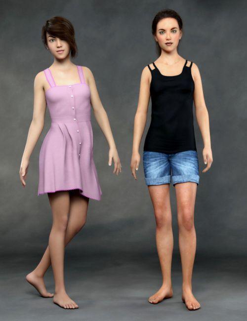Teen Girls for Genesis 8 Female