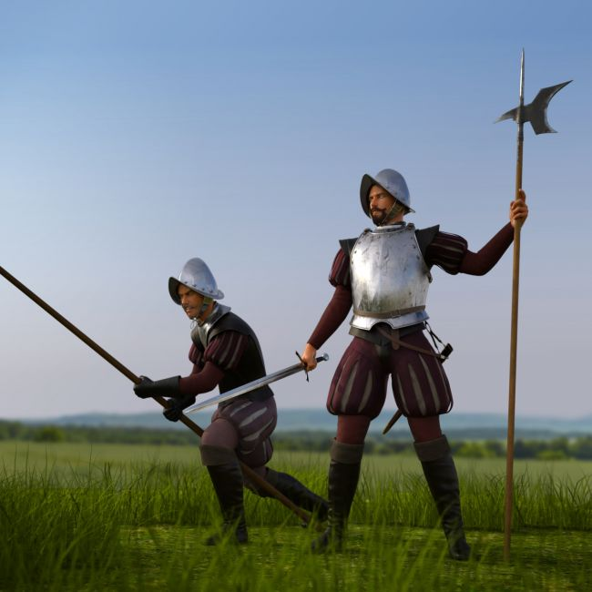Conquistador Weapons for Genesis 3 Male