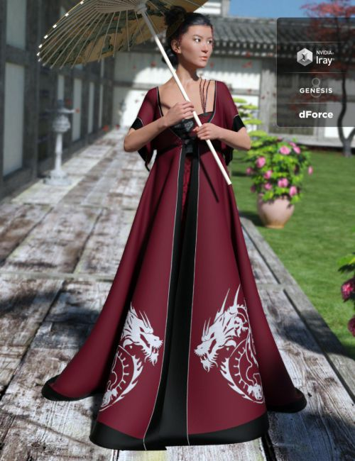 dForce Heilong Outfit for Genesis 8 Female(s)