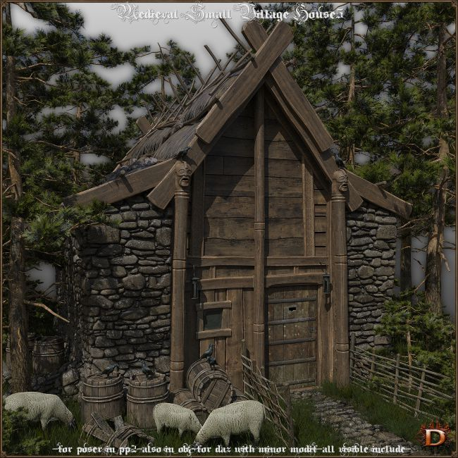 Medieval Small Village House5