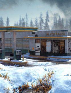 EArkham's ZWorld Winter Gas Station