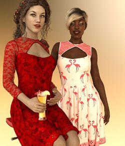 dForce Kiara Keyhole Dress For GF8 Daz Studio Iray