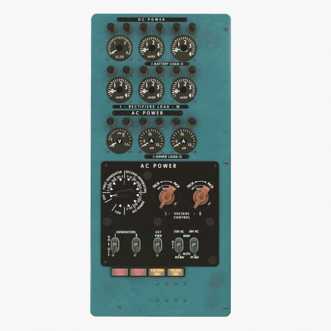 Mi-8MT Mi-17MT Power Panels Board English - Extended License