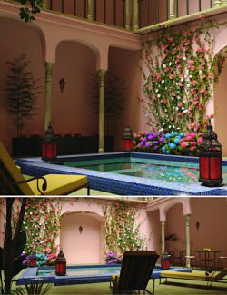 Moroccan Pool Yard