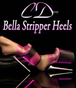 Bella Stripper Heels for G2F
