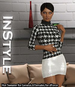 InStyle- Hot Sweater for Genesis 8 Females for dForce