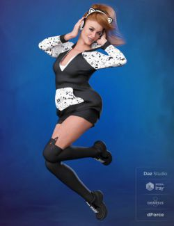 dForce Cool Kitty Outfit for Genesis 8 Female(s)