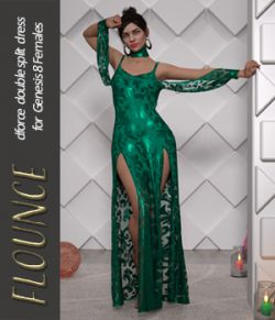 Flounce dForce dress for Genesis 8 Females