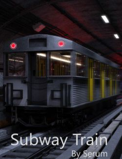 Subway Train For Iray