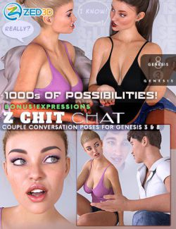Z Chit Chat Poses and Partials for Genesis 3 and 8