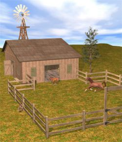 The Horse Barn Set