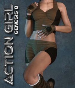 Exnem Action Girl for Genesis 8 Female