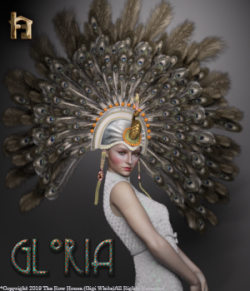 Gloria 1920's Flapper Showgirl Headdress