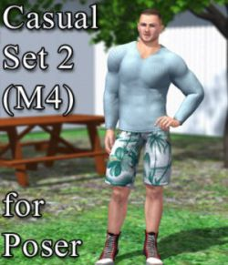Casual Set 2 M4 for Poser