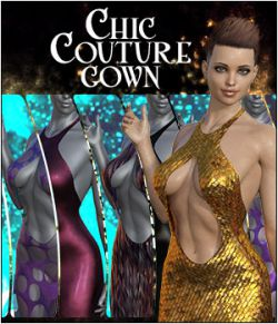dForce Chic Couture Gown for Genesis 8 Females