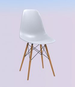 Modern chair real world scale- Extended License