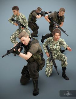 Military Action Poses for Genesis 8