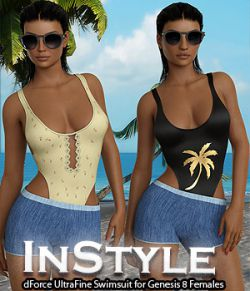 InStyle- dForce UltraFine Swimsuit for Genesis 8 Females