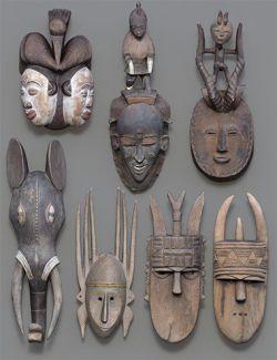 7 African Masks