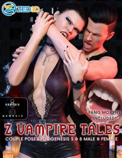 Z Vampire Tales Poses for Genesis 3 and 8