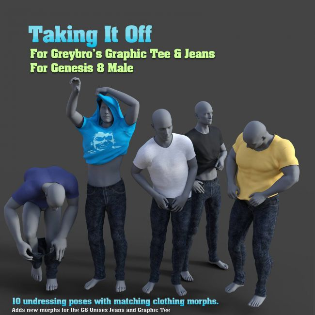 Taking It Off For Greybro's G8 Jeans and Tee Male Edition
