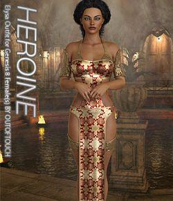 HEROINE- Elysa Outfit for Genesis 8 Females