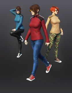 Everyday Outfit With Spikes for Genesis 8 Female(s)