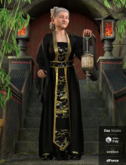 dForce Palace Robes Outfit for Genesis 8 Female(s)
