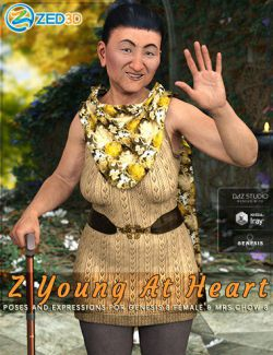 Z Young at Heart - Poses and Expressions for Mrs Chow 8 and Genesis 8 Female