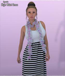 Dynamic High Waist Dress with Shawl La Femme and V4