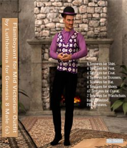 Flamboyant for Mid Victorian Male for Genesis 8 Males