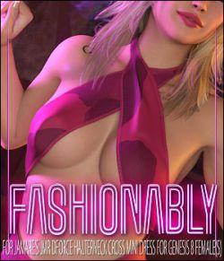 Fashionably for JMR dForce Halterneck Cross Mini Dress for Genesis 8 Females