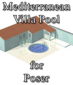 Mediterranean Villa Pool for Poser
