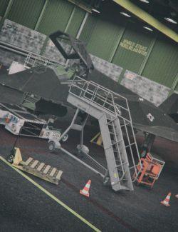 Aircraft Deck Props Set
